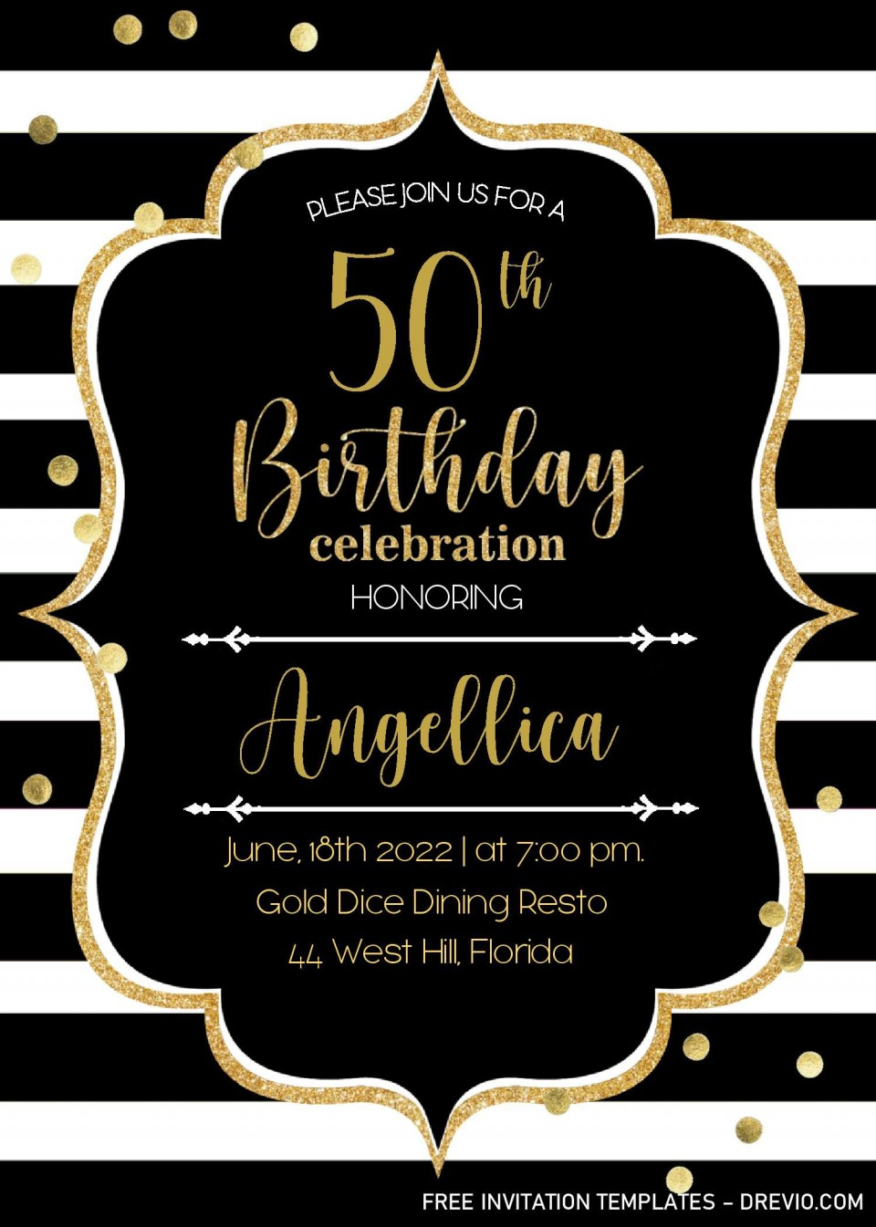 001 Unbelievable Microsoft Word 50th Birthday Invitation Template High Def  Wedding Anniversary Editable960