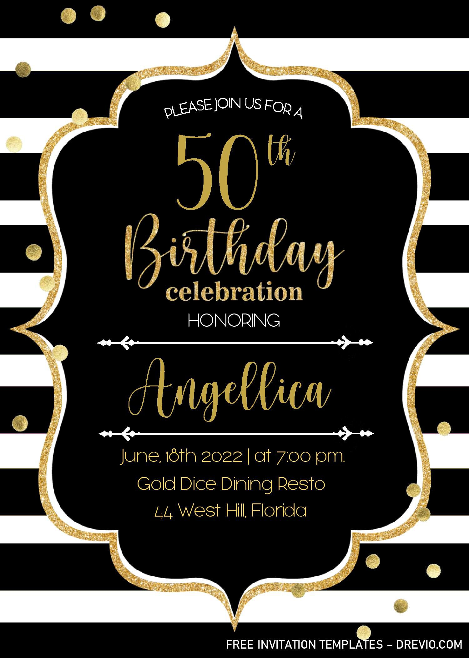 001 Unbelievable Microsoft Word 50th Birthday Invitation Template High Def  Wedding Anniversary EditableFull