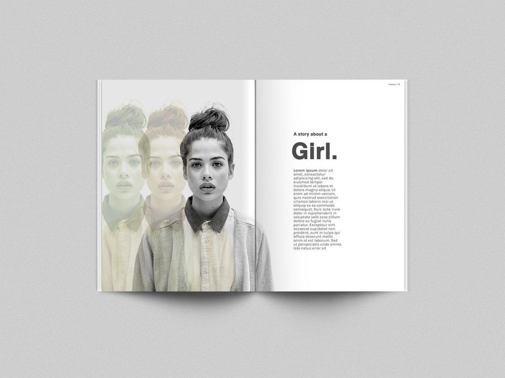 001 Unbelievable Photoshop Magazine Layout Template Free Download Example Large