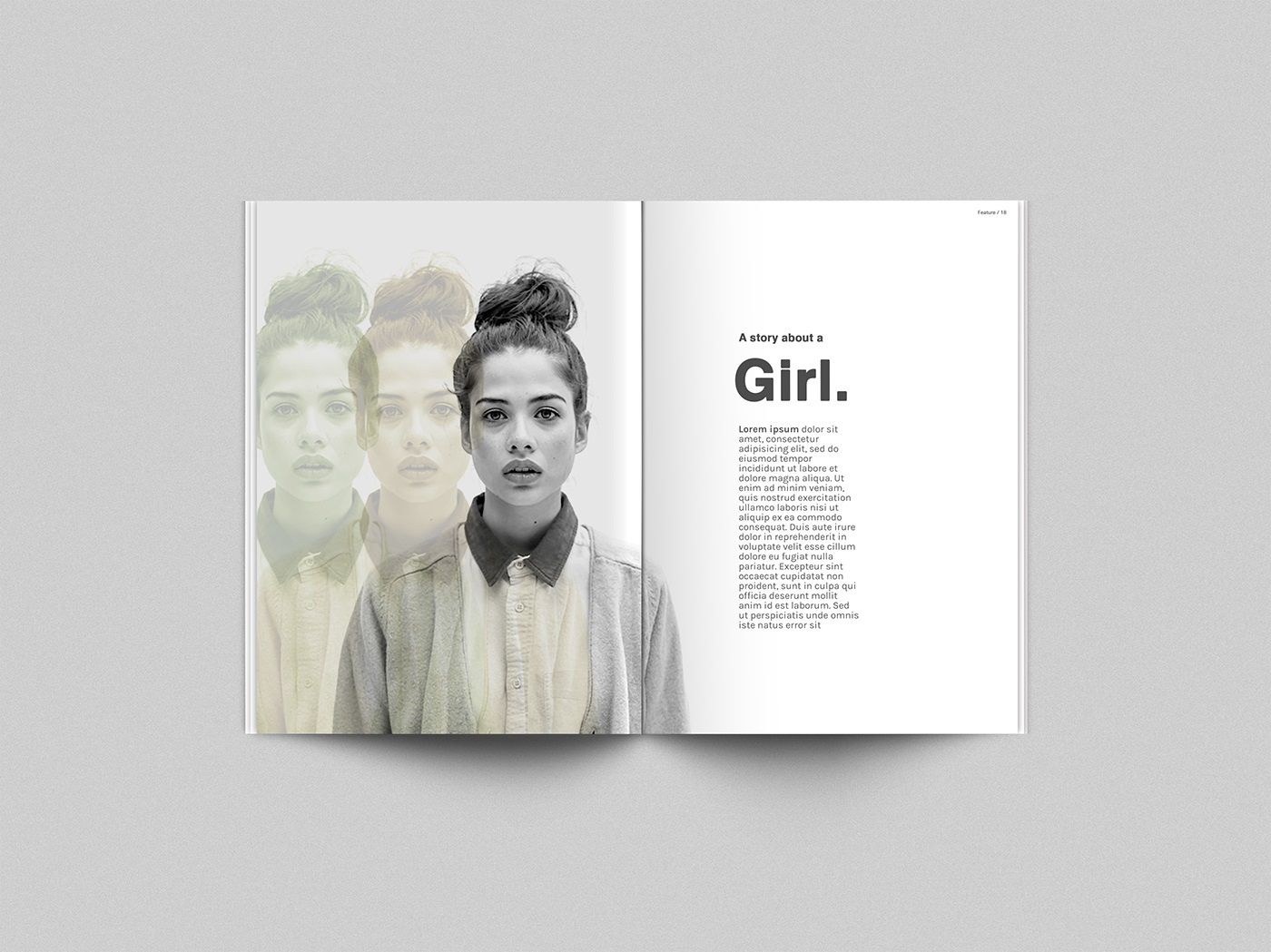 001 Unbelievable Photoshop Magazine Layout Template Free Download Example Full