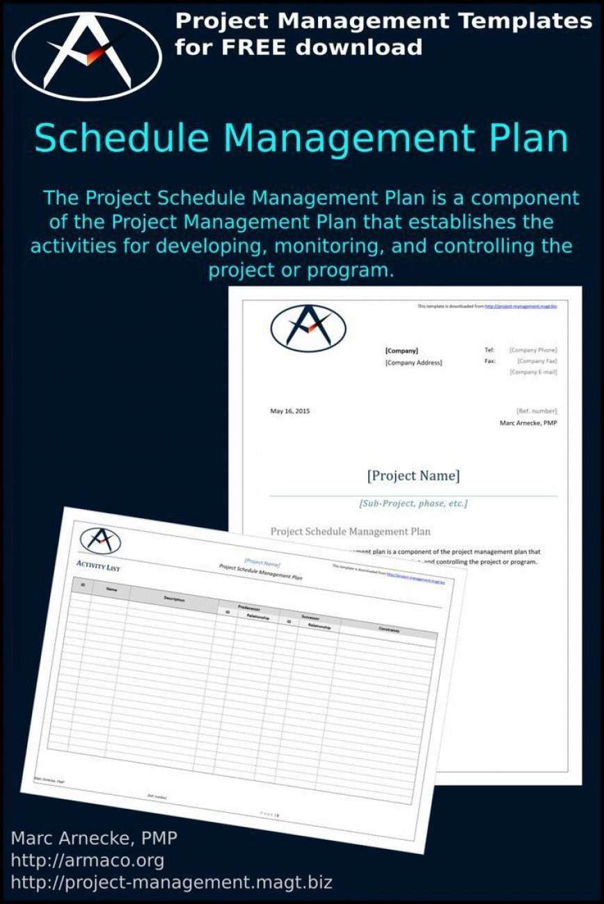 001 Unbelievable Project Management Plan Template Pmi Idea  Quality868