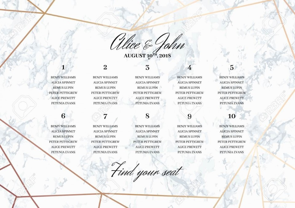 001 Unbelievable Seating Chart Wedding Template Design  Alphabetical Word Table Plan960