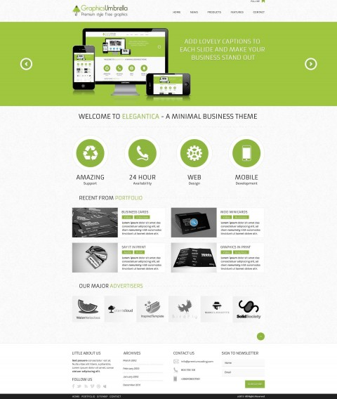 001 Unbelievable Web Template Free Download Sample  Psd Website Bootstrap Responsive480