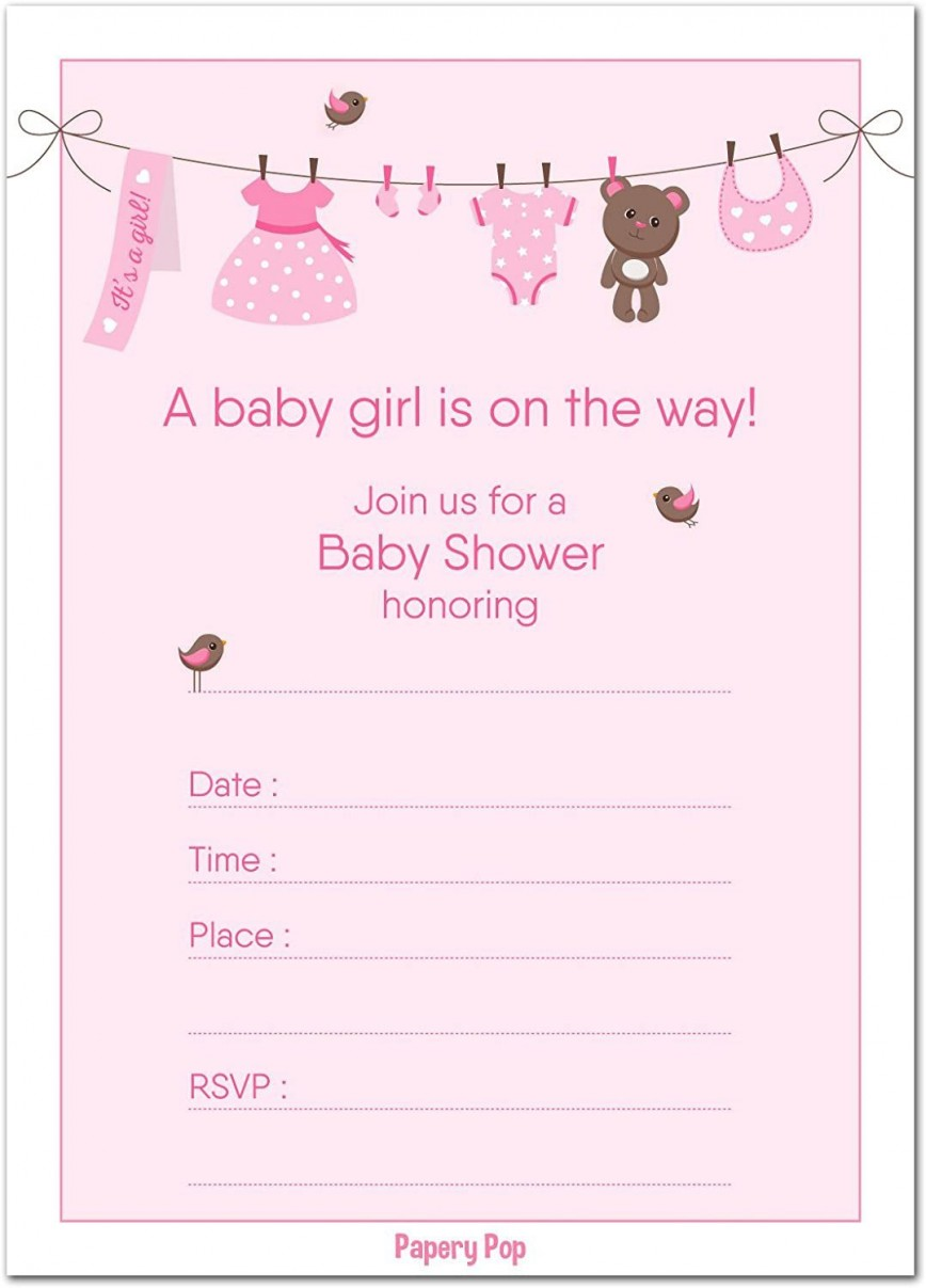 001 Unforgettable Baby Shower Template Girl Photo  Nautical Invitation Free Idea Floral