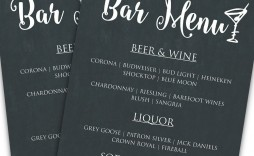 001 Unforgettable Bar Menu Template Free Concept  Download Snack