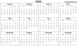 001 Unforgettable Calendar 2020 Template Word Idea  Monthly Doc Free Download