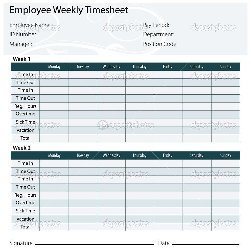 001 Unforgettable Employee Monthly Time Card Template Sample Large