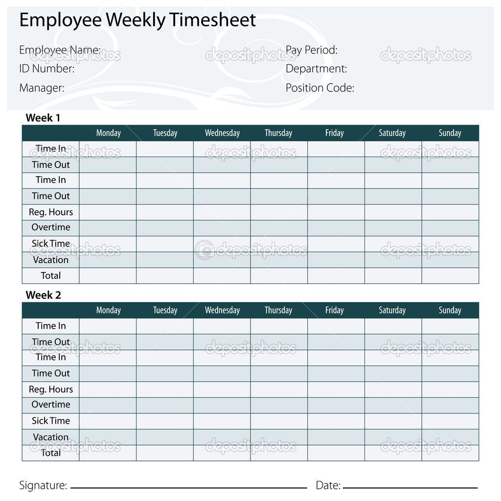 001 Unforgettable Employee Monthly Time Card Template Sample Full