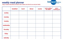 001 Unforgettable Family Meal Planner Template Example  Word Menu