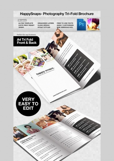 001 Unforgettable Free Brochure Template Psd File Front And Back Photo 480