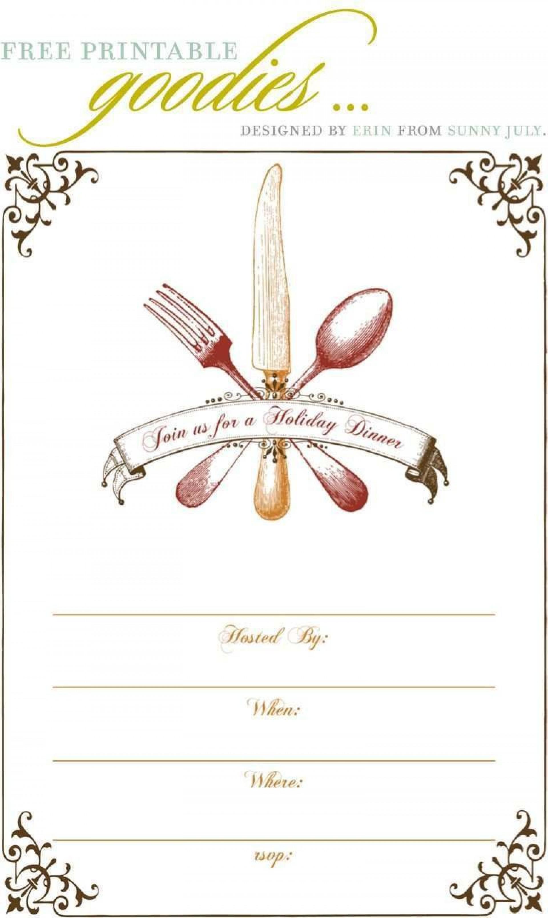001 Unforgettable Free Dinner Invitation Template Design  Templates Rehearsal Printable Italian Thanksgiving1920