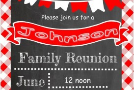 001 Unforgettable Free Downloadable Family Reunion Flyer Template Design