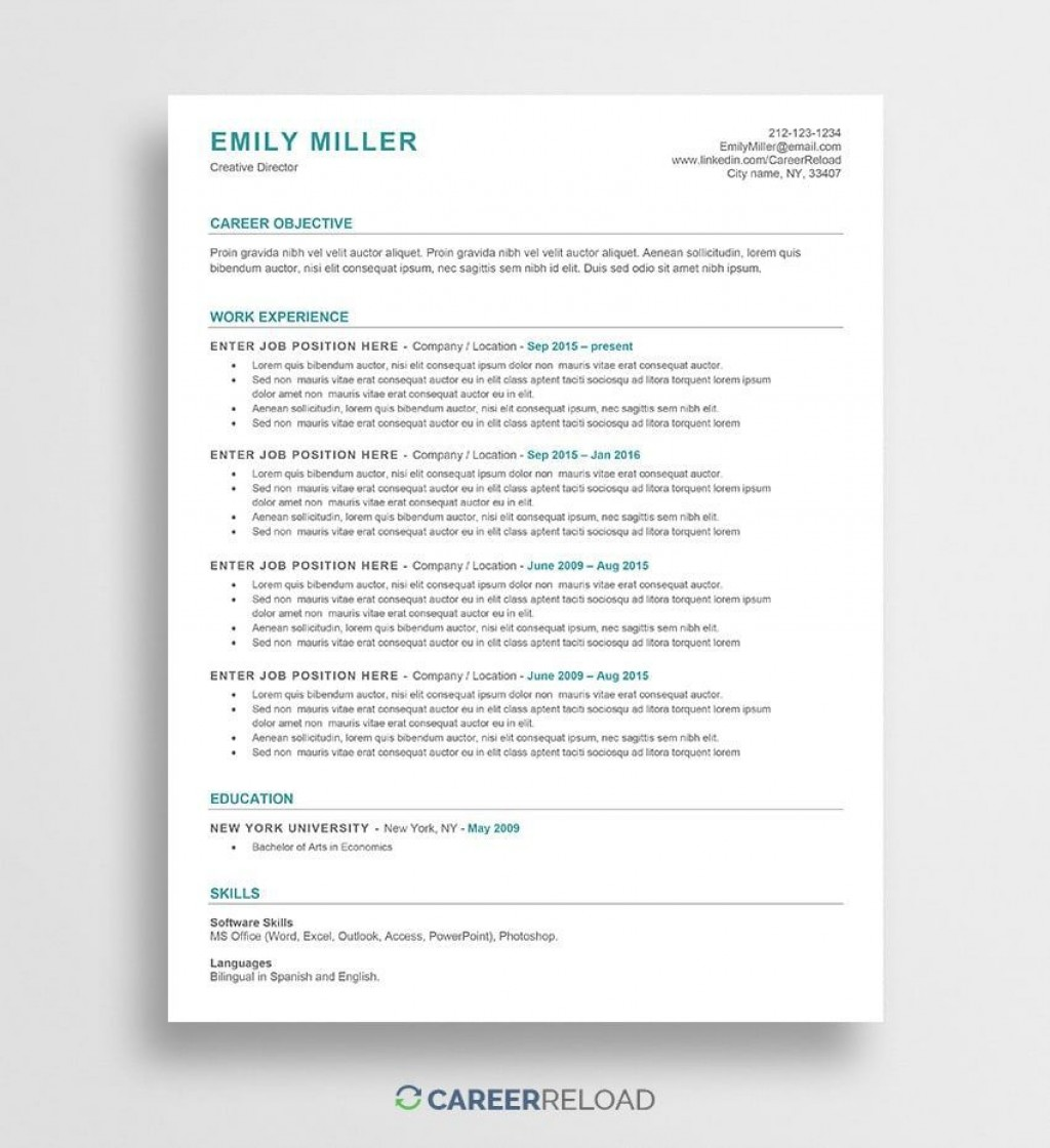 001 Unforgettable Free Printable Creative Resume Template Microsoft Word Highest Quality Large