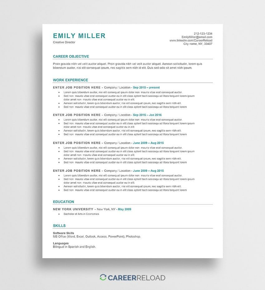 001 Unforgettable Free Printable Creative Resume Template Microsoft Word Highest Quality Full