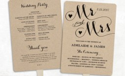 001 Unforgettable Free Printable Wedding Program Paddle Fan Template High Def  Templates