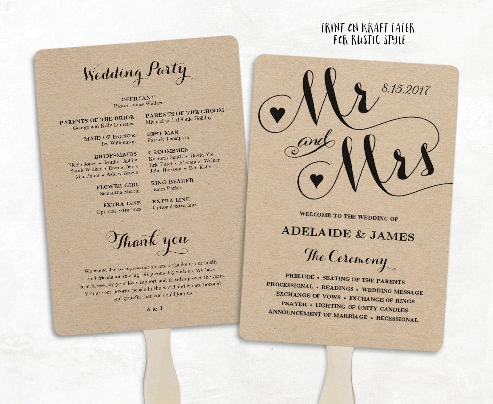 001 Unforgettable Free Printable Wedding Program Paddle Fan Template High Def  TemplatesFull
