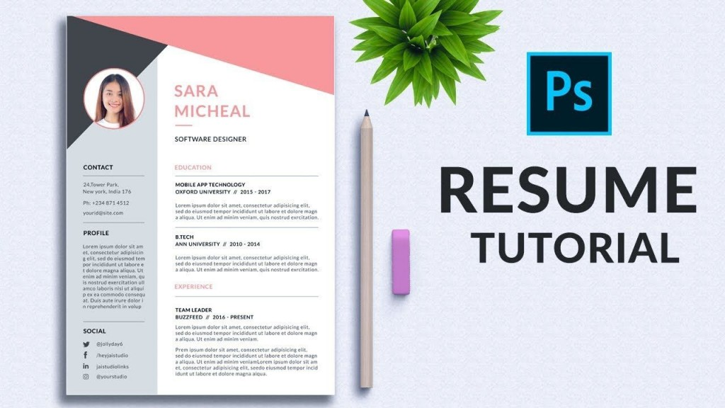 001 Unforgettable How To Create A Resume Template In Photoshop Inspiration Large