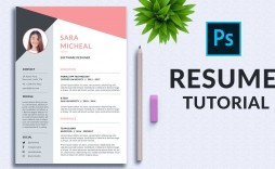 001 Unforgettable How To Create A Resume Template In Photoshop Inspiration