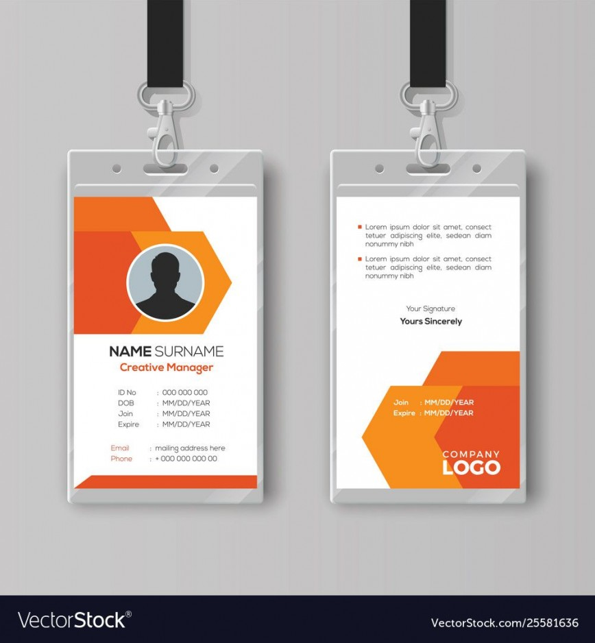 001 Unforgettable Id Card Template Free Example  Printable Medical Child Design Psd Download