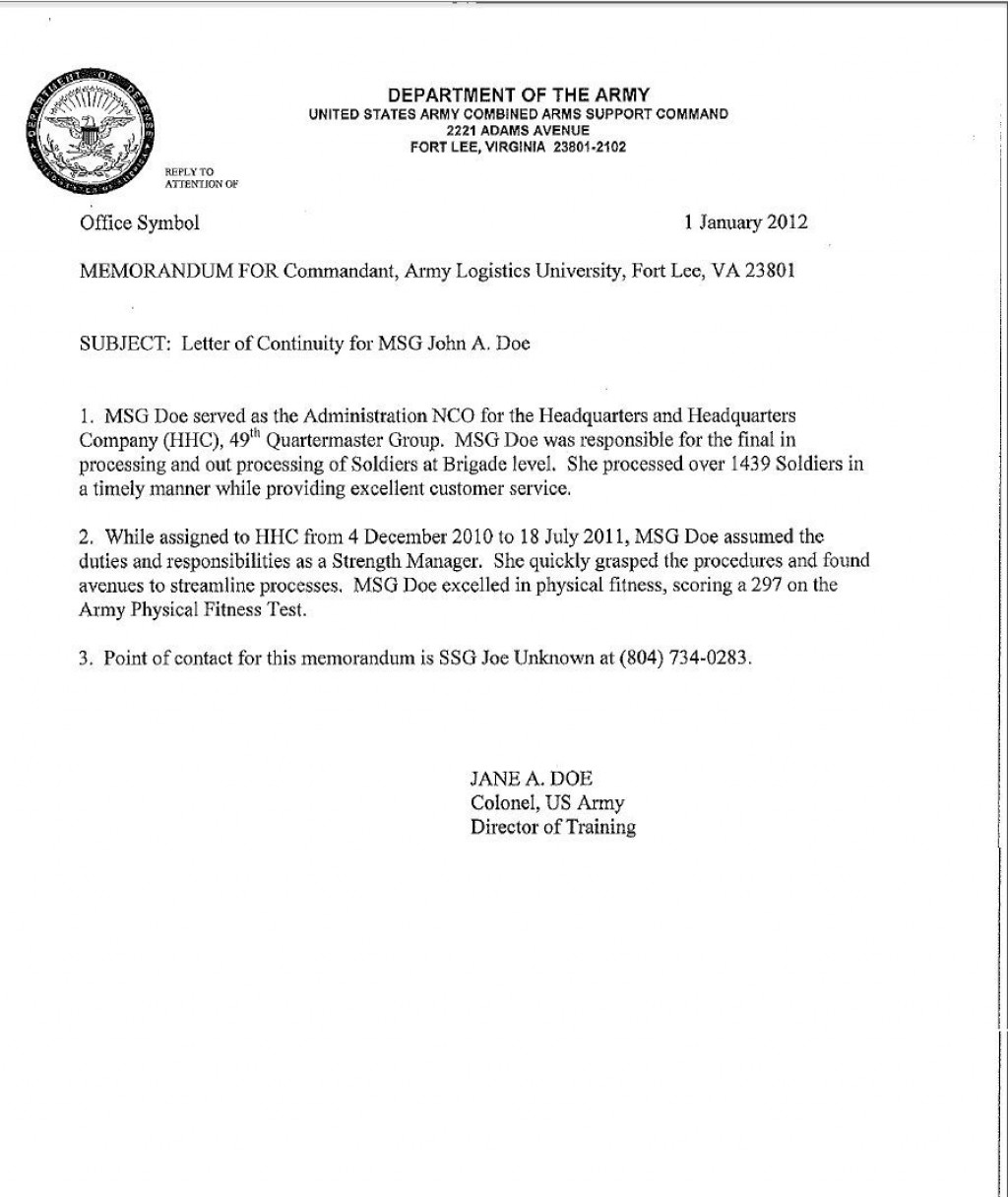 001 Unforgettable Memorandum For Record Template Example  Army Pdf Fillable WlcLarge
