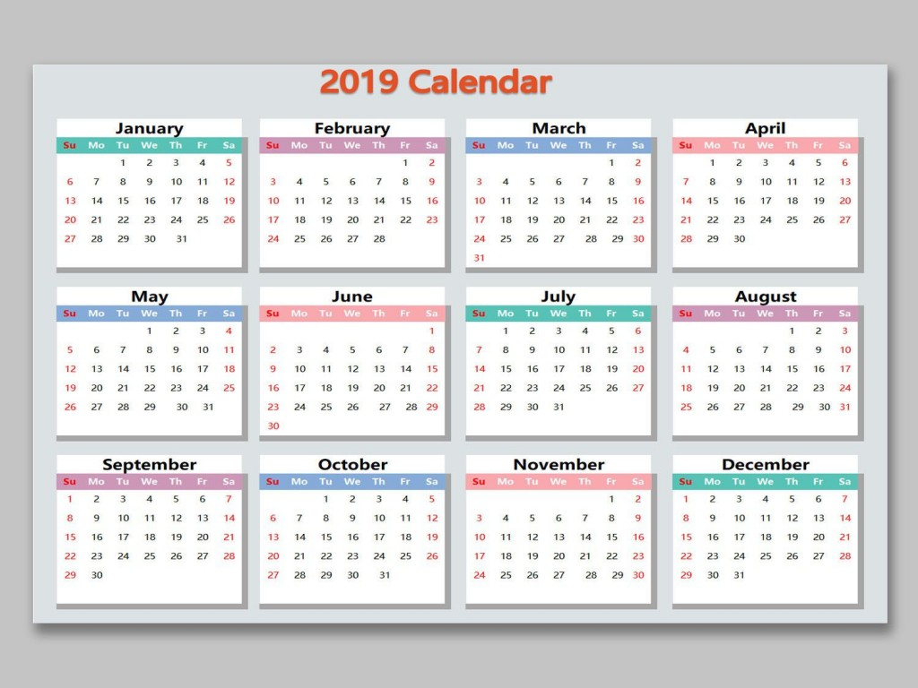 001 Unforgettable Microsoft Excel Calendar Template Highest Quality  Office 2013 M Yearly 2019Large