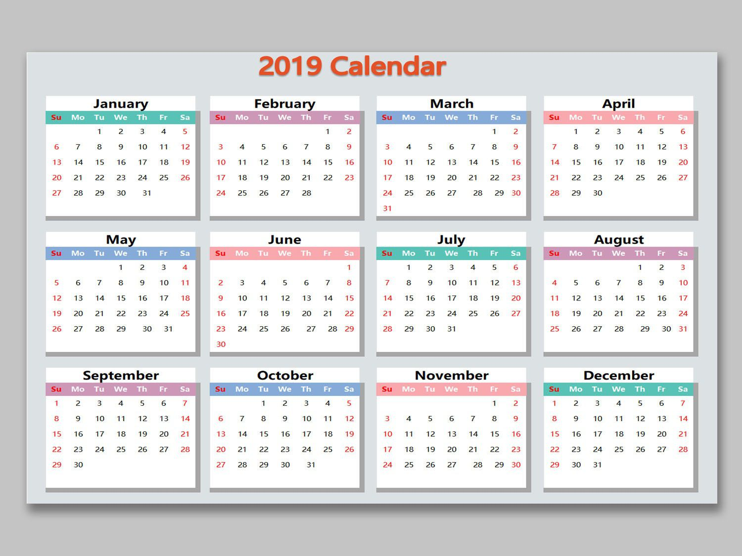 001 Unforgettable Microsoft Excel Calendar Template Highest Quality  Office 2013 M Yearly 2019Full