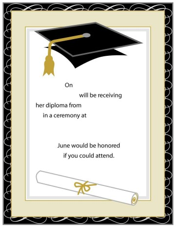 001 Unforgettable Microsoft Word Graduation Invitation Template Highest Quality  Party360