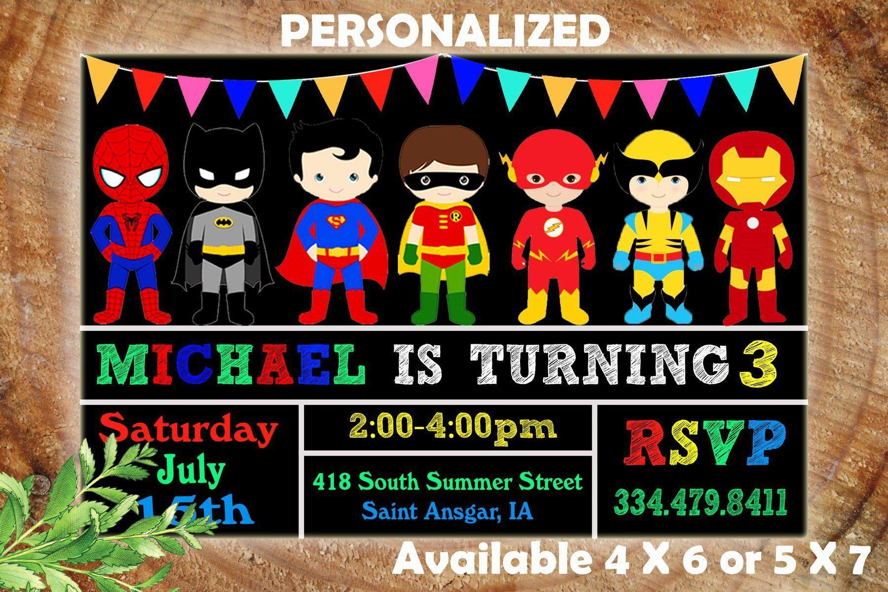 001 Unforgettable Superhero Birthday Party Invitation Template Free Design  InviteFull
