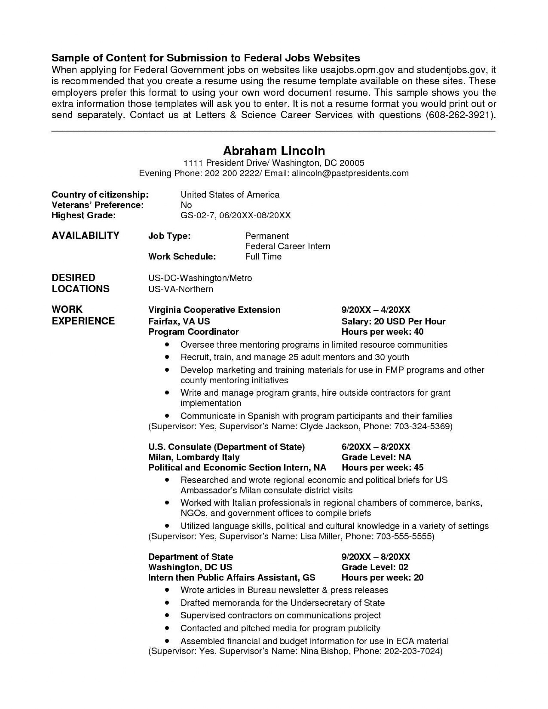 001 Unforgettable Usa Job Resume Template Sample  Builder Usajob Federal1920