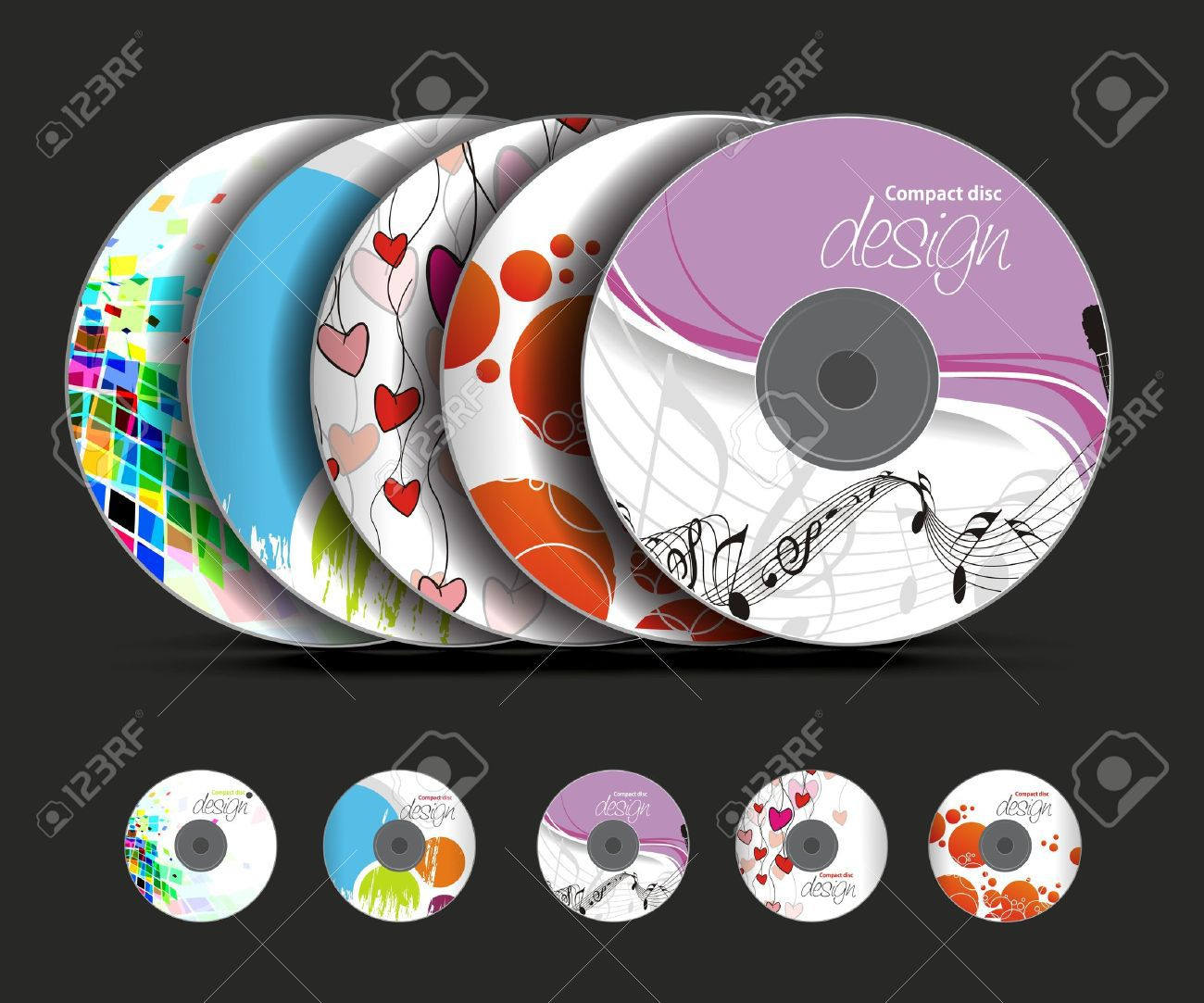001 Unforgettable Vector Cd Cover Design Template Free Inspiration Full
