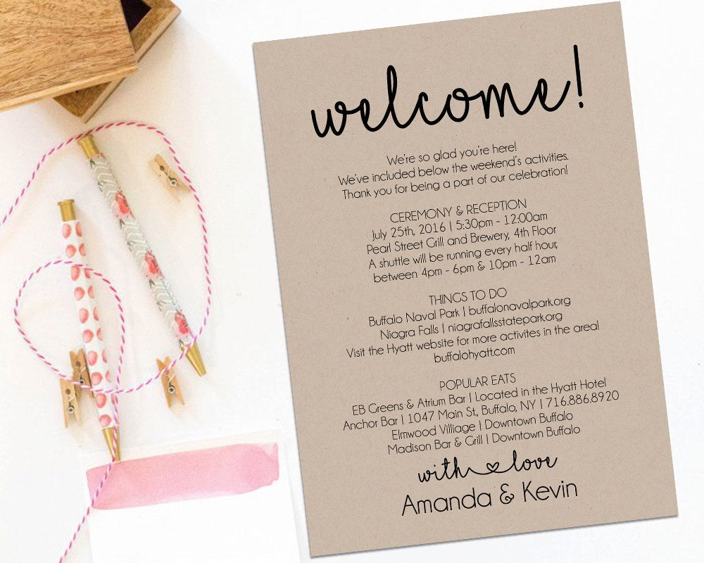 001 Unforgettable Wedding Gift Bag Welcome Letter Template. Picture Full
