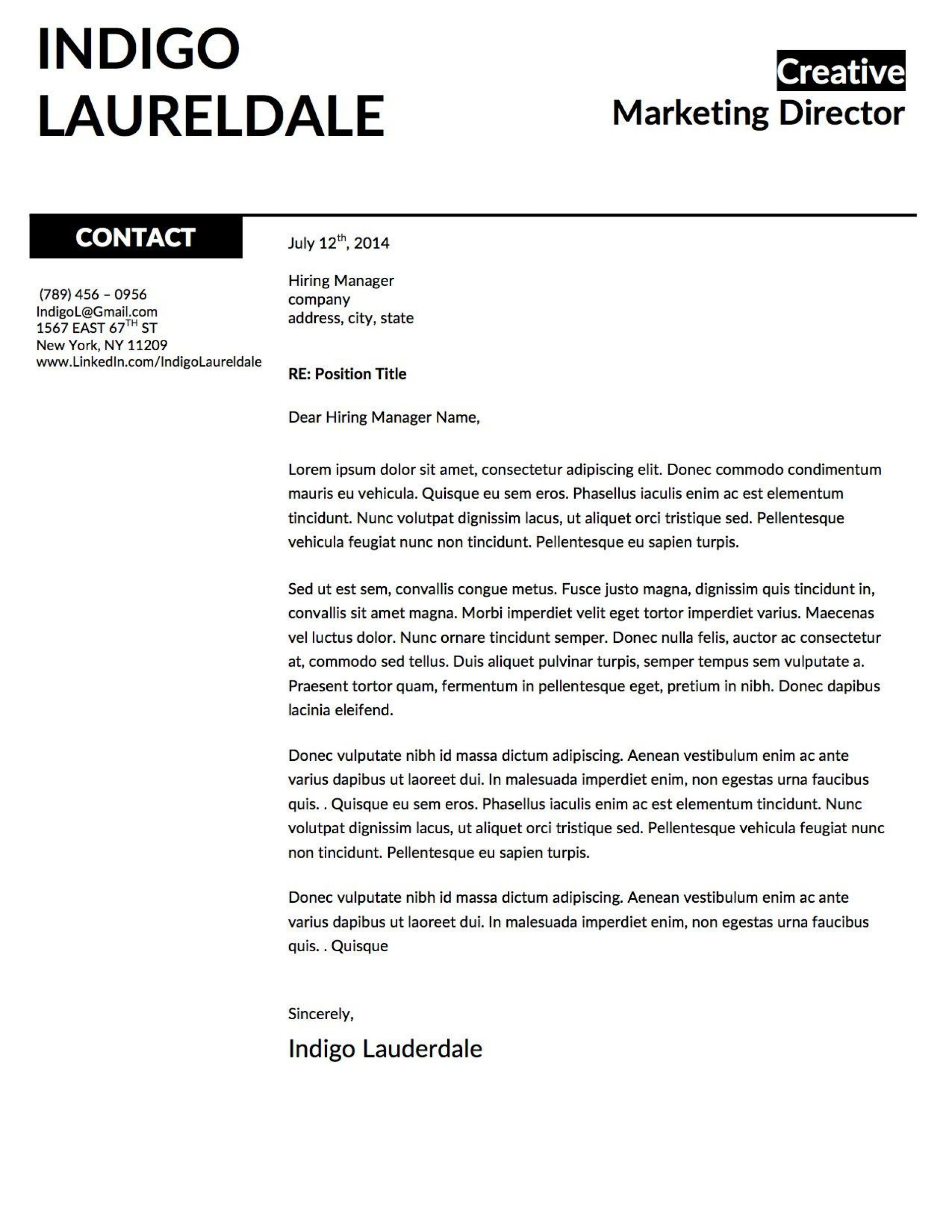001 Unforgettable Window Resume Cover Letter Template High Resolution  Templates1920