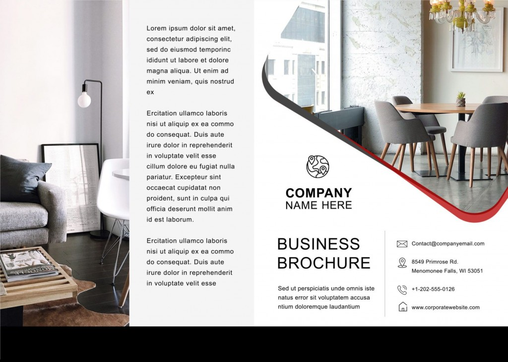 001 Unique Brochure Template For Word Highest Quality  Online Layout Tri Fold MacLarge