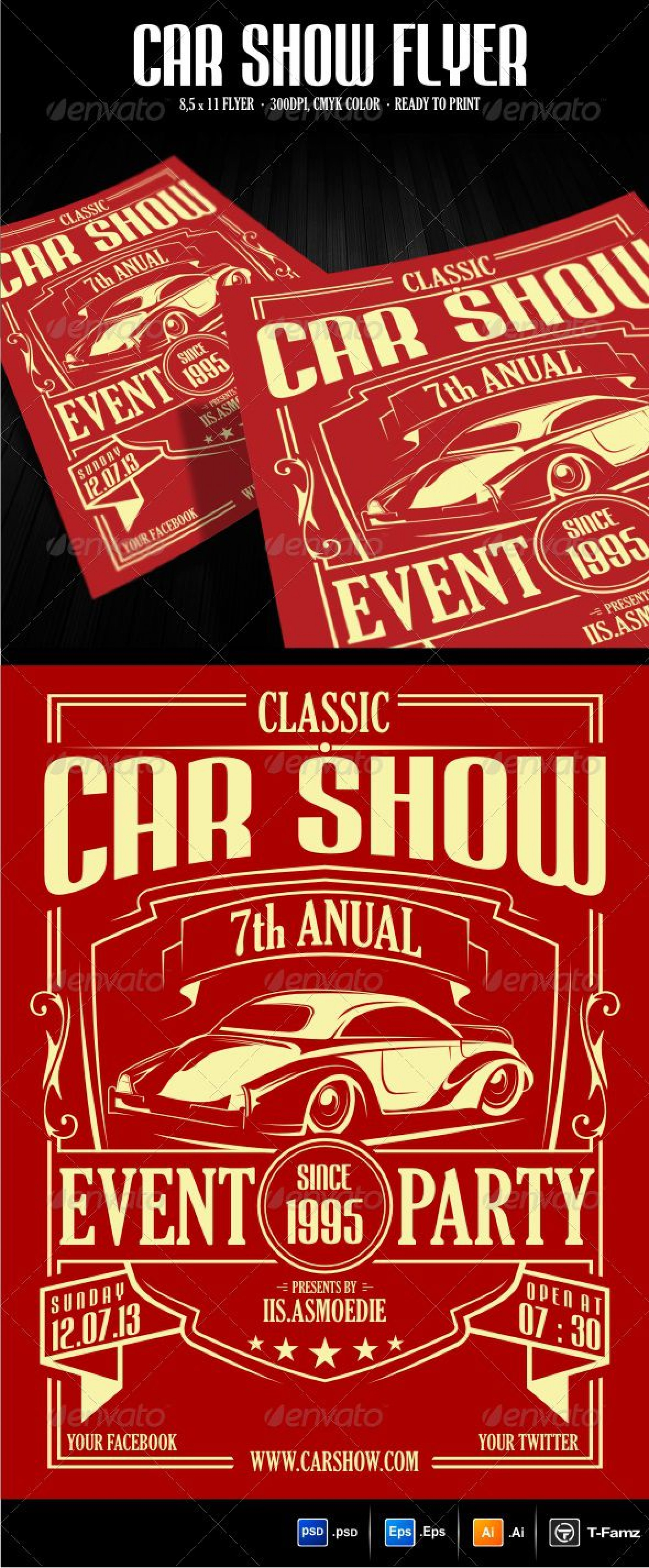 001 Unique Free Car Show Flyer Template Sample  Psd And Bike1920