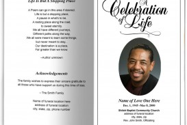 001 Unique Free Celebration Of Life Brochure Template High Definition  Flyer