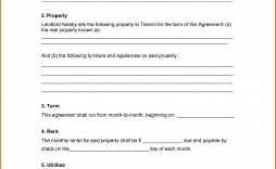 001 Unique Free Rental Agreement Template Word Concept  Room Doc Form Microsoft House Format