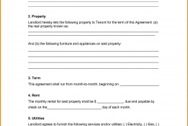 001 Unique Free Rental Agreement Template Word Concept  South Africa House Lease Doc