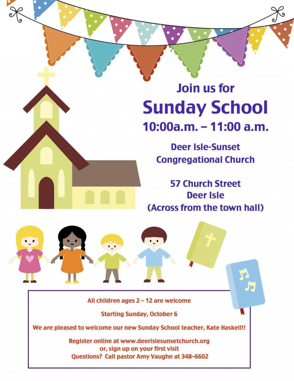 001 Unique Free Sunday School Flyer Template Photo  TemplatesLarge