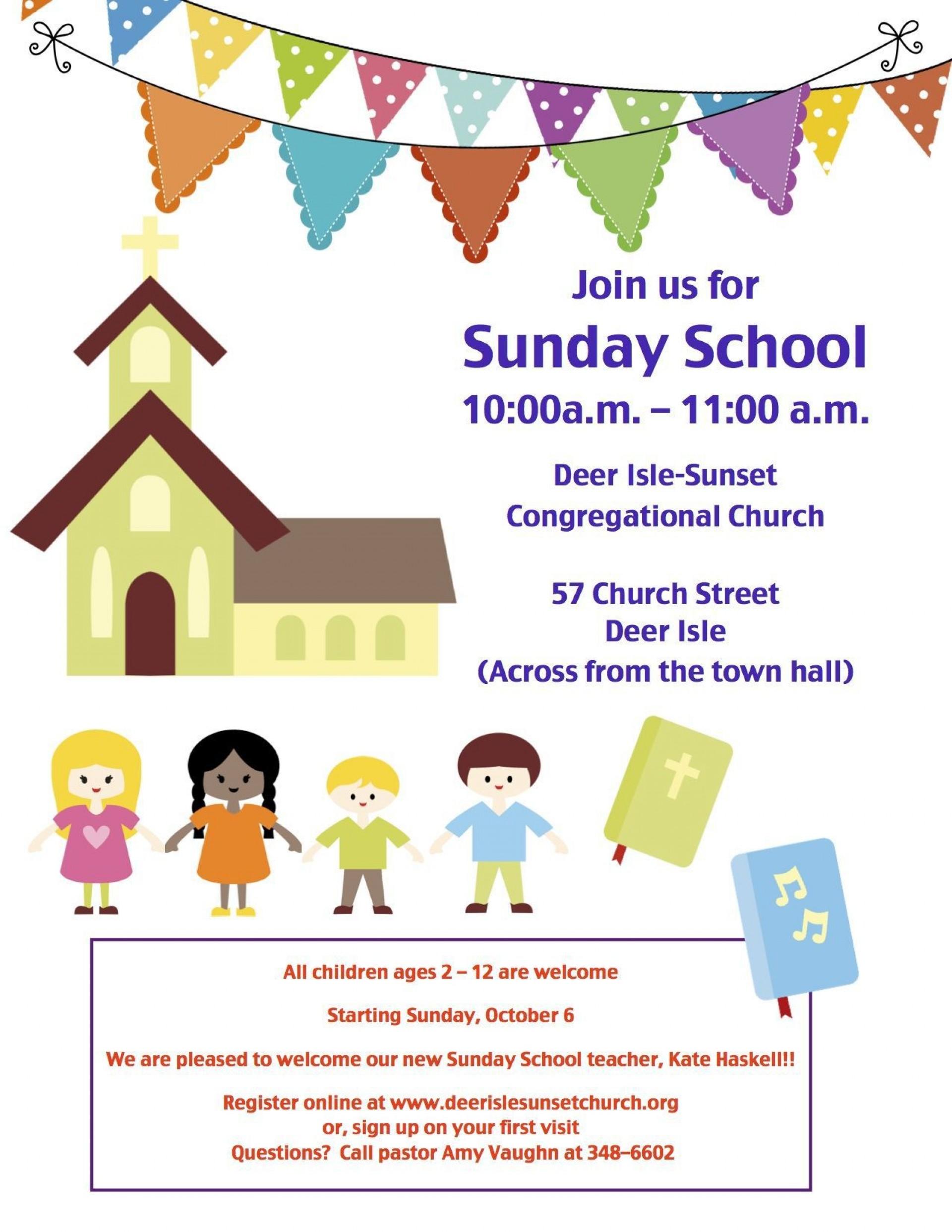 001 Unique Free Sunday School Flyer Template Photo  Templates1920