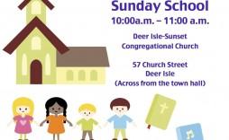 001 Unique Free Sunday School Flyer Template Photo  Templates