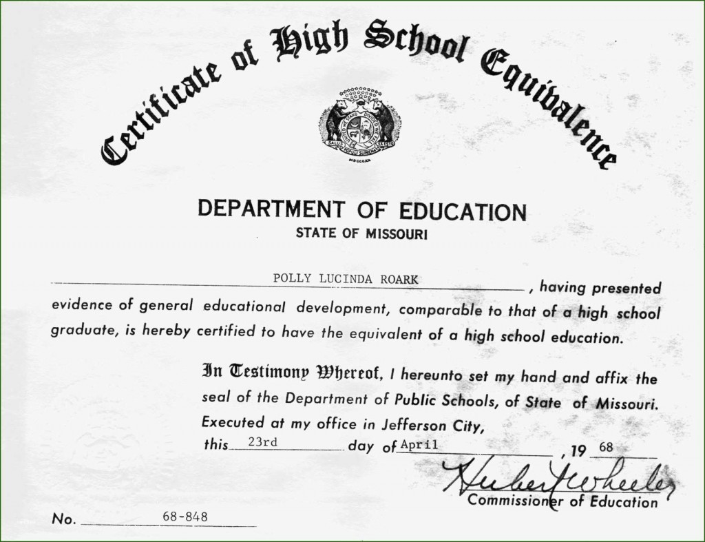 001 Unique Ged Certificate Template Download Image  FreeLarge