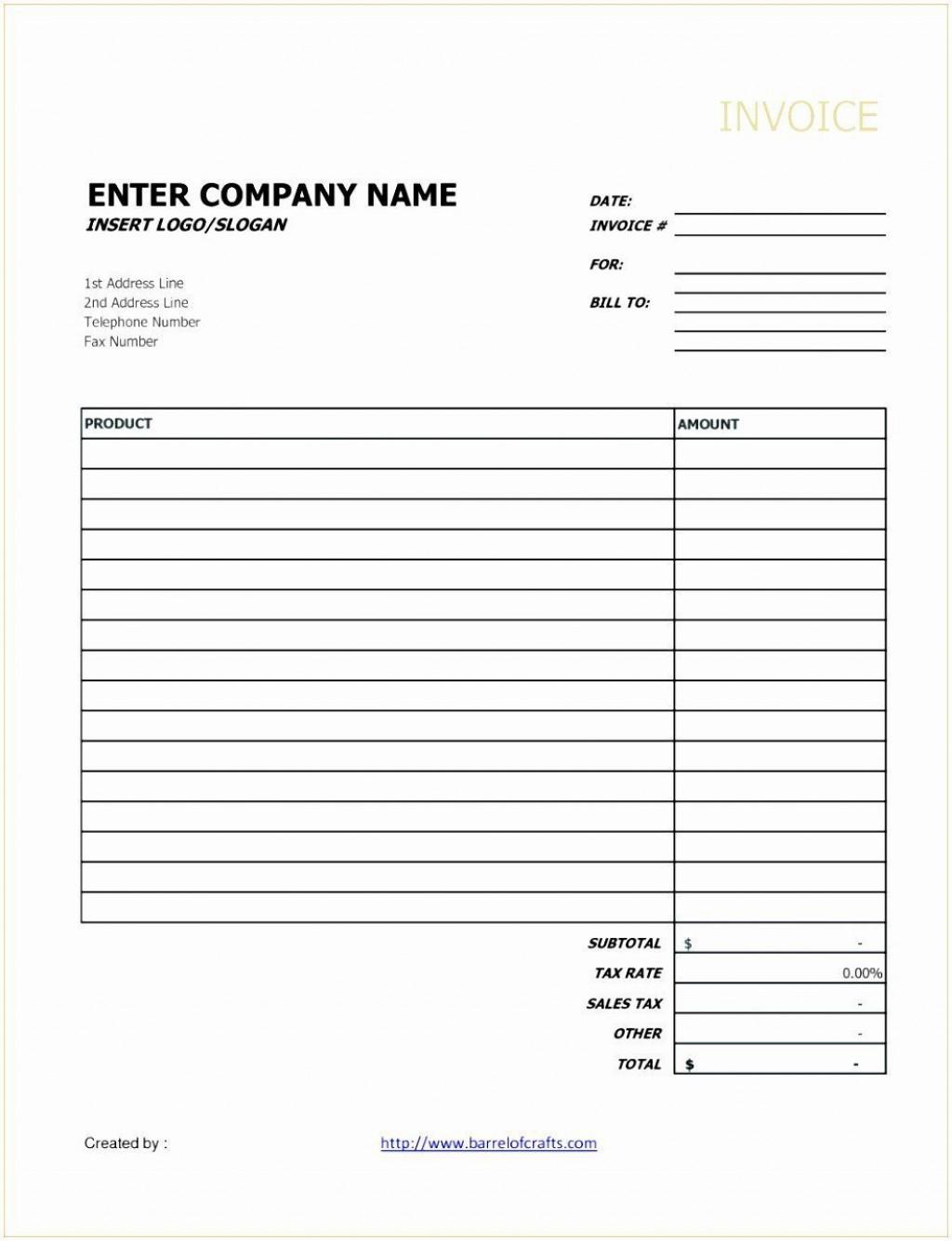 001 Unique Invoice Template Google Doc Concept  Docs Sample Blank SimpleLarge