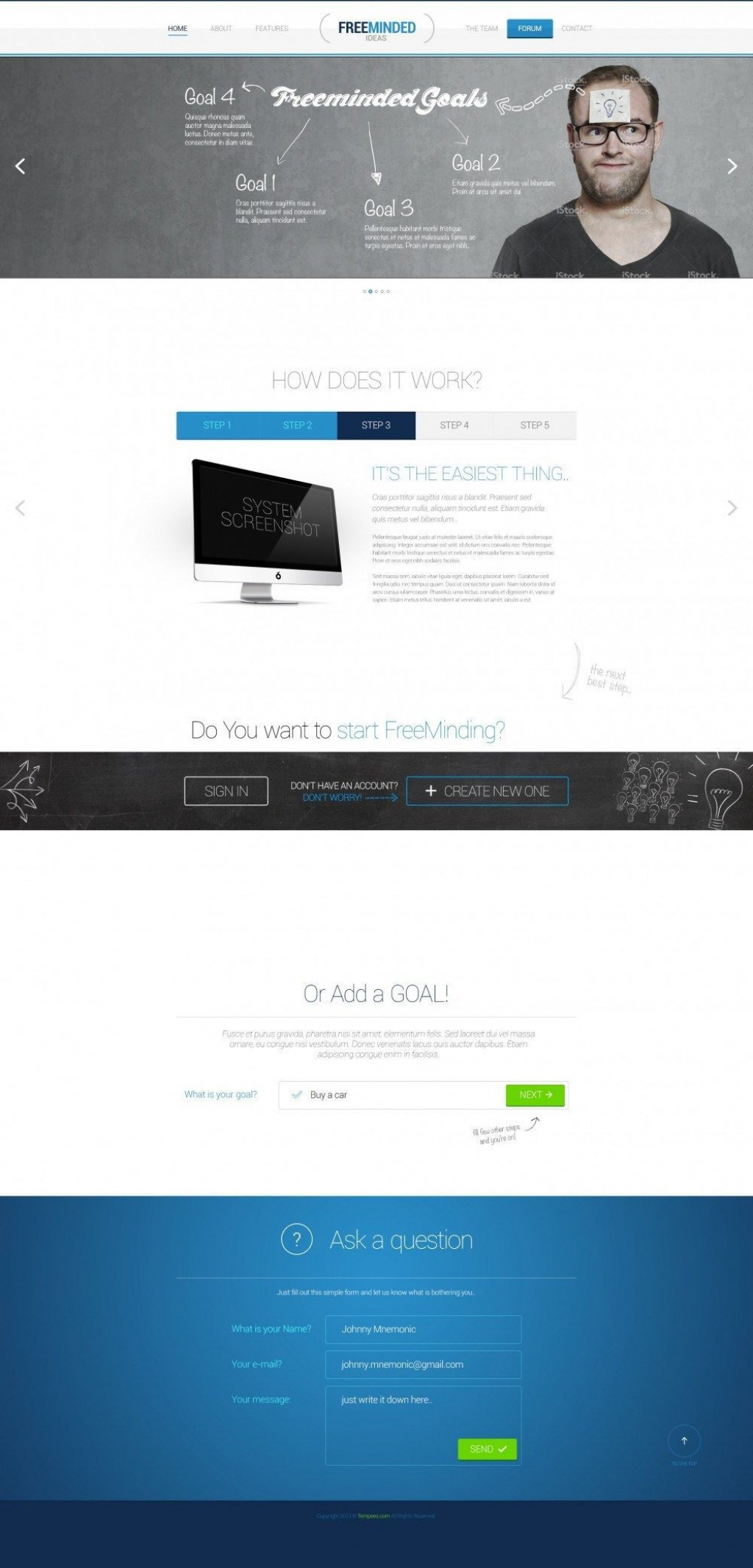 001 Unique Iran Free One Page Psd Website Template High Def Large