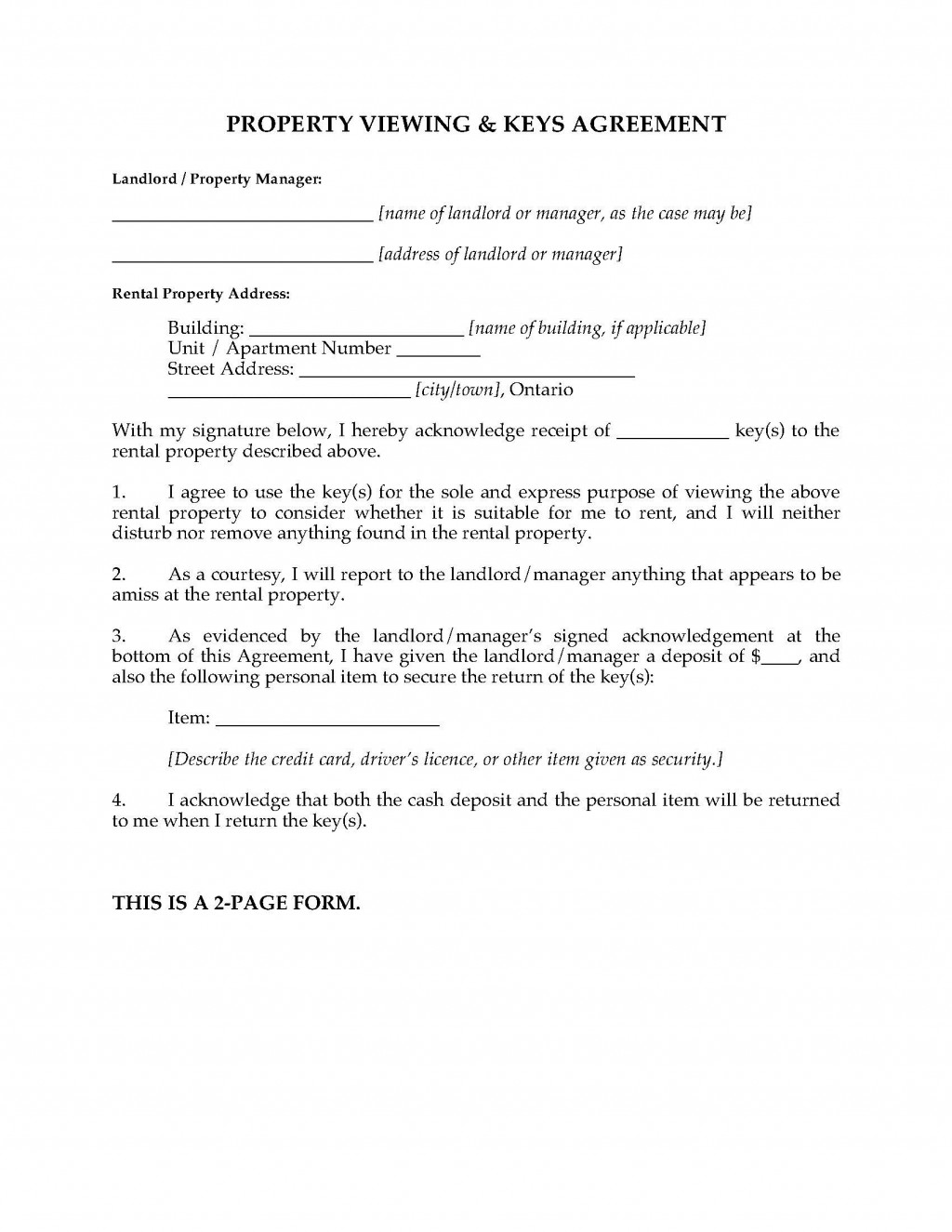 001 Unique Property Management Agreement Template Ontario Design  ContractLarge
