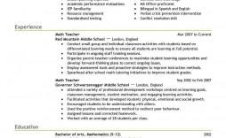 001 Unique Resume Example For Teacher Job Photo  Sample Cv School