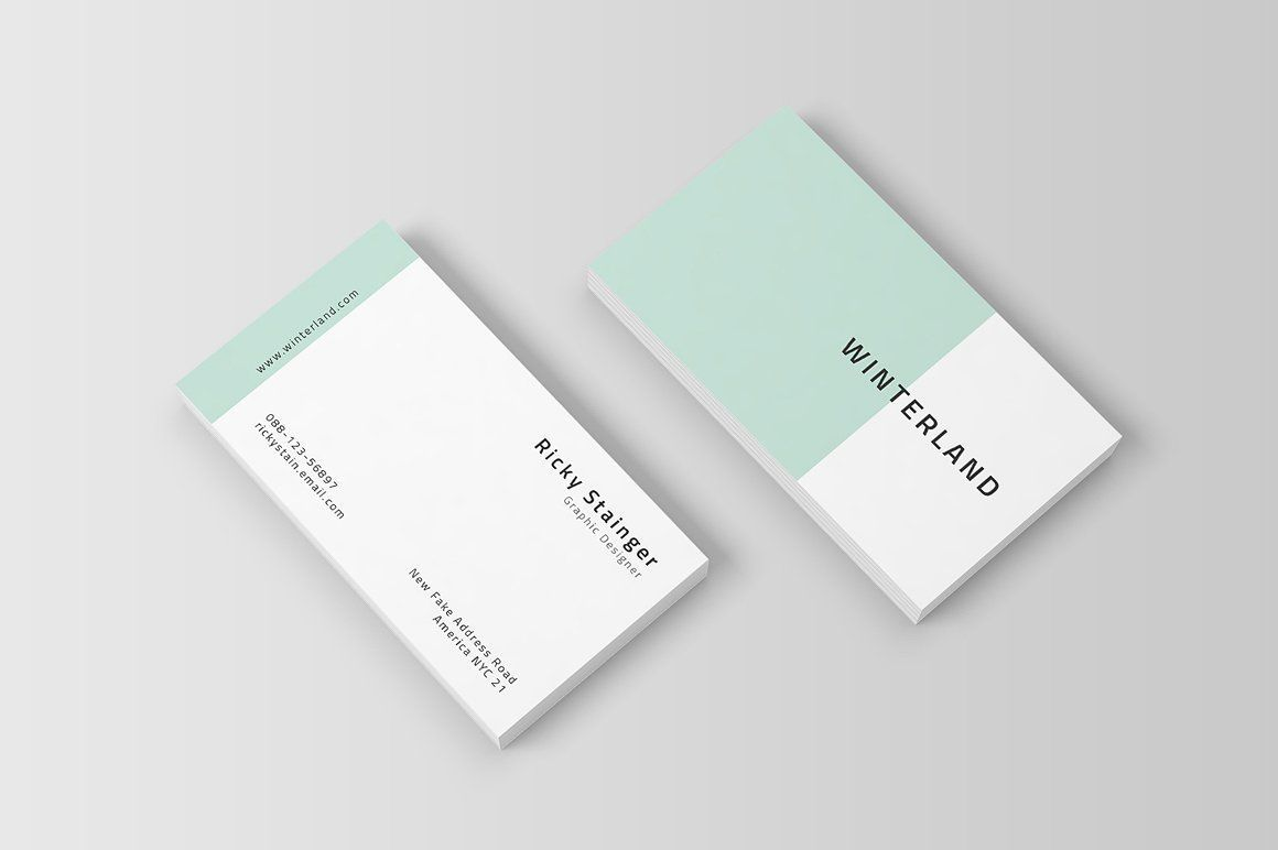 001 Unique Simple Busines Card Template Photoshop Inspiration Full