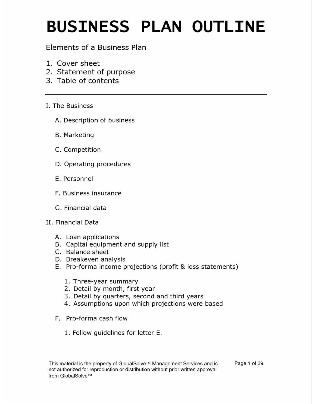 001 Unique Simple Busines Plan Template Free Highest Quality  Word Document DownloadFull