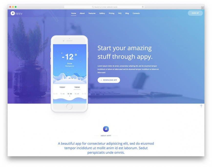 001 Unique Simple Landing Page Template Design  Free Download
