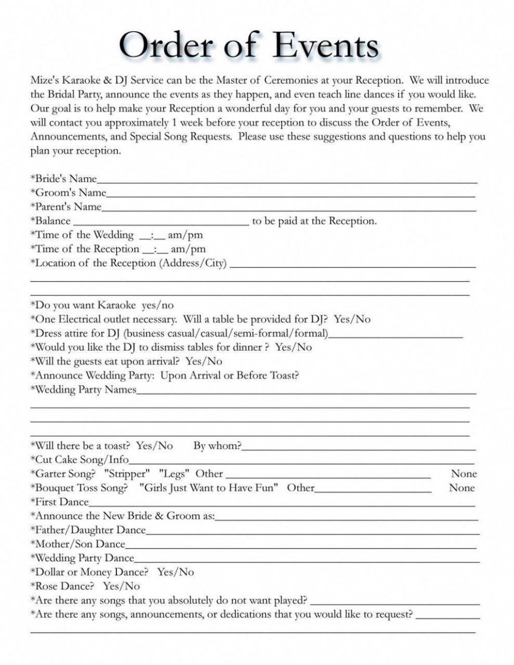 001 Unique Wedding Day Schedule Template Image  Excel Editable Timeline Free WordLarge