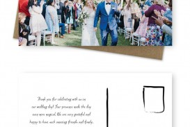 001 Unique Wedding Thank You Card Template Image  Photoshop Word Etsy